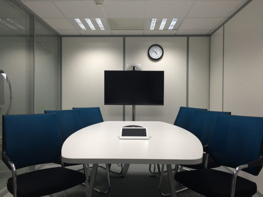 Virtual office meeting room